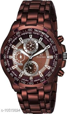 Checkout this latest Chronograph Watches Product Name: *fascino New Stylist Explorer & Business Casual Brown Metal Chain Belt Brown Watch With Decorative Sub-Dials For Men And Boys FCW 2988 -BR Analog Watch - For Men * Strap Material: Metal Date Display: No Dial Design: Solid Display Type: Analog Dual Time: No Gps: No Multipack: 1 Sizes:  Free Size Easy Returns Available In Case Of Any Issue   Catalog Rating: ★4.1 (487)  Catalog Name: Classy Men Watches CatalogID_1920247 C65-SC1232 Code: 653-10513824-9911
