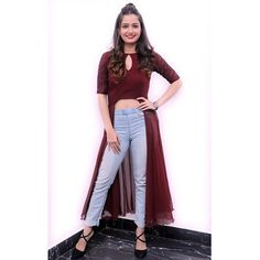 Wearing 😍 for the audio success meet of Hair : Pants : heels 👠 : Pc : New Wife, Stylish Girl Images, Girls Image, Indian Actresses, Duster Coat, Forever 21, Success, Meet, How To Wear
