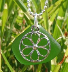 Sea Glass Jewelry Green Sea Glass Necklace by CalmSeasCreations, $15.00