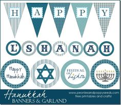 FREE Hanukkah Party Printables from Printabelle | Party printables ...