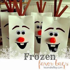 TEAM SKELLEY   the blog: Frozen Olaf Treat Bag Tutorial