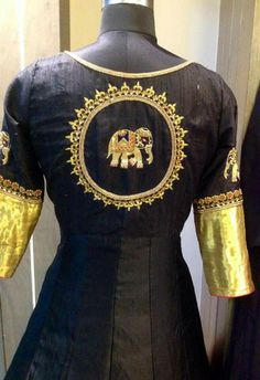 Super elephant Indian Attire, Indian Wear, Indian Outfits, Indian Style, Salwar Designs, Saree Blouse Designs, Designer Wear, Designer Dresses, Look Short