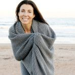 Wonga Road Alpaca Throw Blanket – Grey & Ivory $220