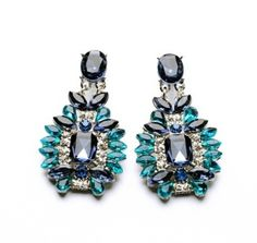 Ahmed Jewelry Hot Sale! Nice quality Fashion Green Crystal Earring 1pair For Woman 2015 New Stud Earrings Wholesale Price E014