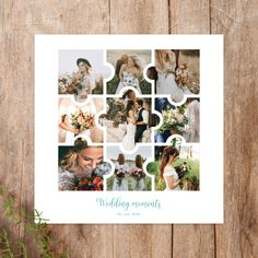 Puzzle Photo Collage  Details:  - 2 PSD Files - Print ready - 300 DPI - 12 x 12 - 10 x 12 - Easy to edit - Layered PSD files  #collagetemplate #photocollage #storyboard #scrapbook #puzzleframe #puzzle #collage #digitalpuzzle #weddingtemplate #wedding #moodboard #collage #12x12 #10x20 #psdtemplate #psd Wedding Templates, Psd Templates, Free Photo Collage Templates, Storyboard Template, Puzzle Frame, Page Design, Photo Puzzle, Backdrops, Scrapbook