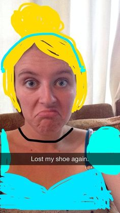 Cinderella from Cinderella | Hilarious Proof That Snapchat Can Turn Anyone Into A Disney Princesst @Lisa Jones