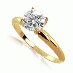 14k yellow gold diamond  ring fine gem by fireagate on Etsy, $650.00