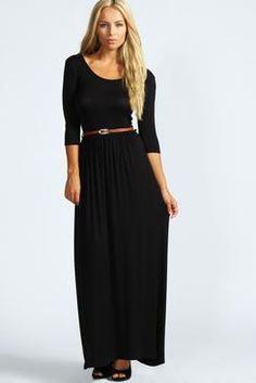 Sophia Scoop Neck Elasticated Waist Maxi Dress