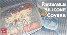These reusable silicone covers are the bomb!  It's an easy way to keep your leftovers fresh without taking up extra room or creating more trash.  Now we use a lot less aluminum foil and plastic wrap and they're pretty inexpensive too.