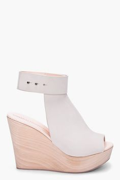 Common Projects Cream Open Back Wedges