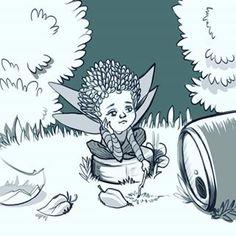 Пикси расстроен, что природу так портит человек #ink #inktober2018 @ochibrochi #willborg #willborgart #31witches