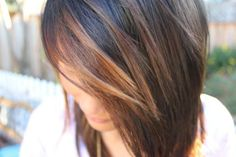 Top Caramel Highlights. Possibility to do for wedding day hair color...