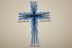 string-art christian cross