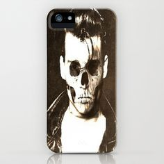 johnny depp skull portrait iPhone Case by Joedunnz - $35.00