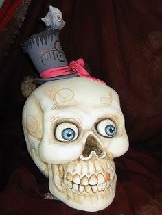 Skull cake... by Karen Portaleo/ Highland Bakery, via Flickr
