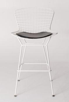 Milano Republic Furniture - Replica Harry Bertoia Wire Bar Stool - White Powerdercoat - various colour cushions, $139.00 (http://www.milanorepublicfurniture.com.au/replica-harry-bertoia-wire-bar-stool-white-powerdercoat-various-colour-cushions/)