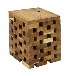 Your home has a style all its own, and the DecMode Teak Square Block Vanity Stool allows you to showcase your unique tastes. With a square slab. Wood Stool, Teak Wood, Vanity Stool, Accent Chairs For Living Room, Wood Square, Square Tables, Wood Construction, Foot Rest, Inventions
