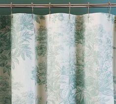 Matine Toile Shower Curtain #potterybarn