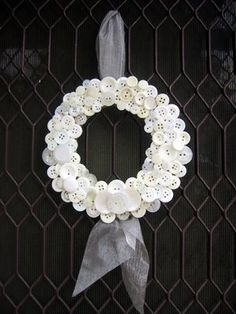 Button Wreath....