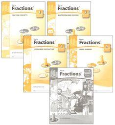 Key to Fractions Complete Set Workbooks + Keys