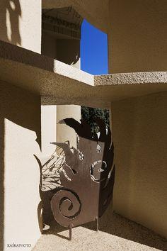 "Details of the ""Crazy House"" in Tel Aviv, Israel at Hayarkon 181 photo by Kaśka Sikora  #TelAviv #Hayarkon #realestate #luxuryrealestate #luxuryhomes #luxurylife #designer #decoration #luxuryapartments #art #gaudistyle #architects, #designers #elevator #luxurylife #designer #decoration  #interiordesign  #gaudistyle #artwork #architecture #details #sculpture"