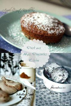 Apfel-Zimt-Muffin, Schoko-Haselnuss-Kekse & Schokoladen-Zimt-Baisers
