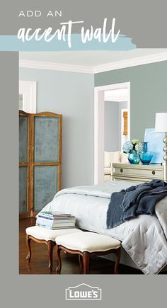 There's no better way to update the look and feel of a room than with a fresh coat of paint. Find everything you need to turn your design dreams into reality at Lowe's. Paint Colors For Living Room, Paint Colors For Home, Room Paint, Bedroom Colors, Interior Design Living Room, Living Room Decor, Bedroom Decor, Master Bedroom, French Country Bedrooms