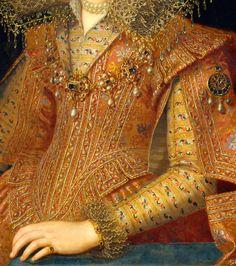 jaded-mandarin:  Frans Pourbus the Younger. Detail from Margarita Gonzaga, Duchess of Lorraine.