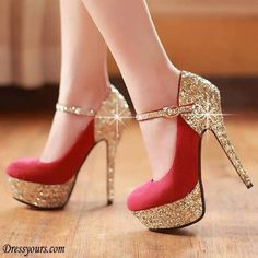 7 Fashion Tips just for Tiny Females To Think About - Brilliant Round  Closed Toe Platform Flattery Red Stiletto High Heels Suede Mary Jane Pumps e076bb0a78