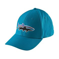 38b5dbf35d5 Patagonia Fitz Roy Tarpon Stretch Fit Hat Grecian Blue
