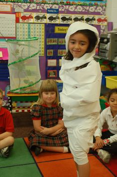 The kids find out what it's like to break out of a cocoon!  (love this idea!!)
