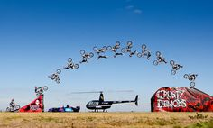 Gearing up for his first performance at the 2012 Formula 1™ Australian Grand Prix, Crusty Demon Robbie Marshall defied death earlier today with a breathtaking jump over the spinning blades of a helicopter at Avalon Airport.