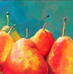 Brenda ferguson Easy Canvas Painting, Simple Acrylic Paintings, Watercolor Paintings, Oil Paintings, Watercolor Fruit, Watercolour, Oil Pastel Art, Watercolor Projects, Funky Art