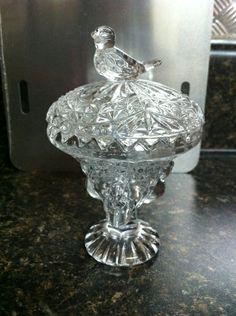 German Hofbauer Byrdes Lead Crystal trinket dish