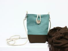 Bandolera Mini Turquesa Mini Turquoise Shoulder Bag  by Cut and Cus