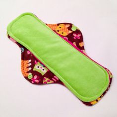 Woodland 11 Velour Cloth Menstrual Pad  Mama Cloth  by Aaylas, $10.00