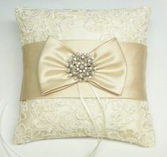 lace bridal ring pillow