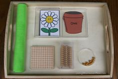 Place Value Flower Tray