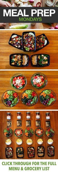 Vegetarian Meal Prep For 21 Day Fix #organize #healthy