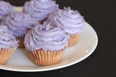 Ube (Purple Yam) Cupcakes (and a little rant about ube vs. taro) | Kirbie's Cravings | A San Diego food blog