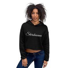 Crop Hoodie Kundalini Black Yoga Hoodie for Women Crop Top Hoodie, Cropped Hoodie, Black Hoodie, Yoga Wear, Gym Wear, Black Yoga, Hoodies, Sweatshirts, Crop Tops