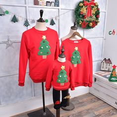1be03e9b69 Family Matching Outfits 2017 Winter Christmas Sweater Cute Deer Children  Clothing Kid T-shirt Add Wool Warm Family Clothes