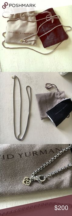 Selling this David Yurman Box Chain Necklace on Poshmark! My username is: pou0727. #shopmycloset #poshmark #fashion #shopping #style #forsale #David Yurman #Jewelry
