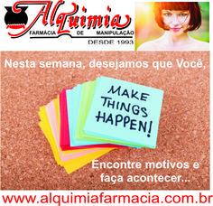 """A Alquimia Farmácia de Manipulação Ltda deseja uma ótima semana a todos. Se você gostou do nosso post....""""Dê uma """"Pinada"""" (51-3311.8811) Entre em contato conosco... www.alquimiafarmacia.com.br VISITE nosso SITE..."""