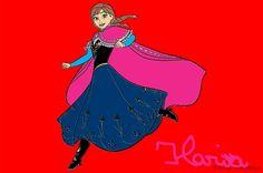Anna che salta - Frozen | Disegni da Colorare