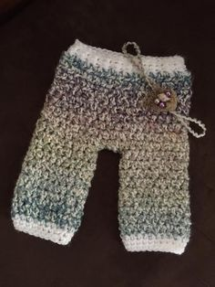 Newborn pants neutral colors with bird nest by ShellsBackDoor