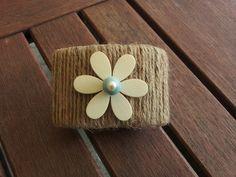 A Spoonful of Crafts: Rustik servietring / Rustic Napkin Holder
