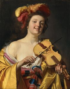 Gerrit van Honthorst detto Gherardo delle Notti, Suonatrice di violino, 1626   See more at:  http://www.tripartadvisor.it/il-mito-della-golden-age-vermeer-rembrandt/