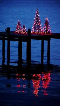 Christmas Trees on the Pier
