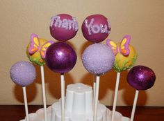 Butterfly Thank You Cake Pops